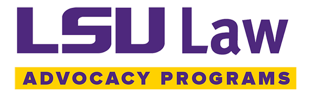 LSU Law Center Advocacy Programs banner image