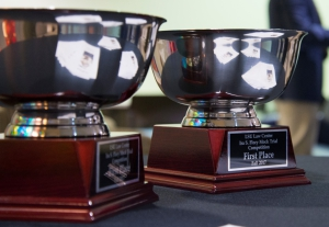 Photos of the 1st place trophies in the Flory Trial Competition