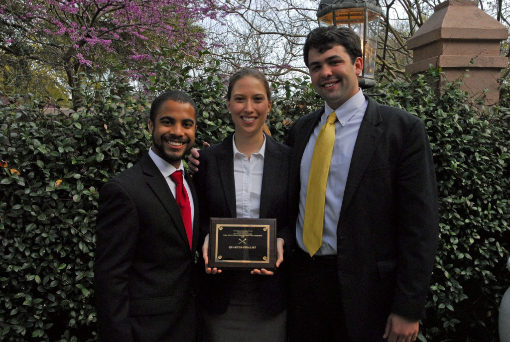 """John R. Brown Admiralty Moot Court Competition """"Gold"""" Team"""