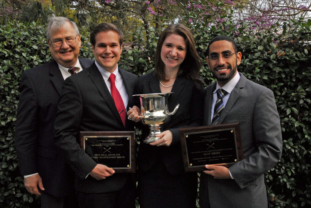 """John R. Brown Admiralty Moot Court Competition """"Purple"""" Team"""