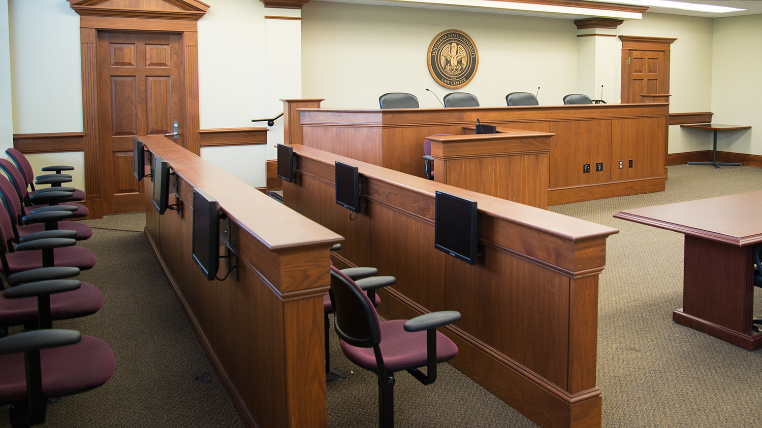robinson courtroom lsu law audio visual technology