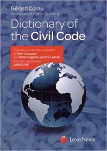 "cover page of the book ""Dictionary of the Civil Code"""