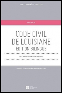 "Cover page of the book ""Code Civil de Louisiane - édition bilingue"""