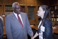 U.S. Supreme Court Justice Clarence Thomas Visits LSU Law Center