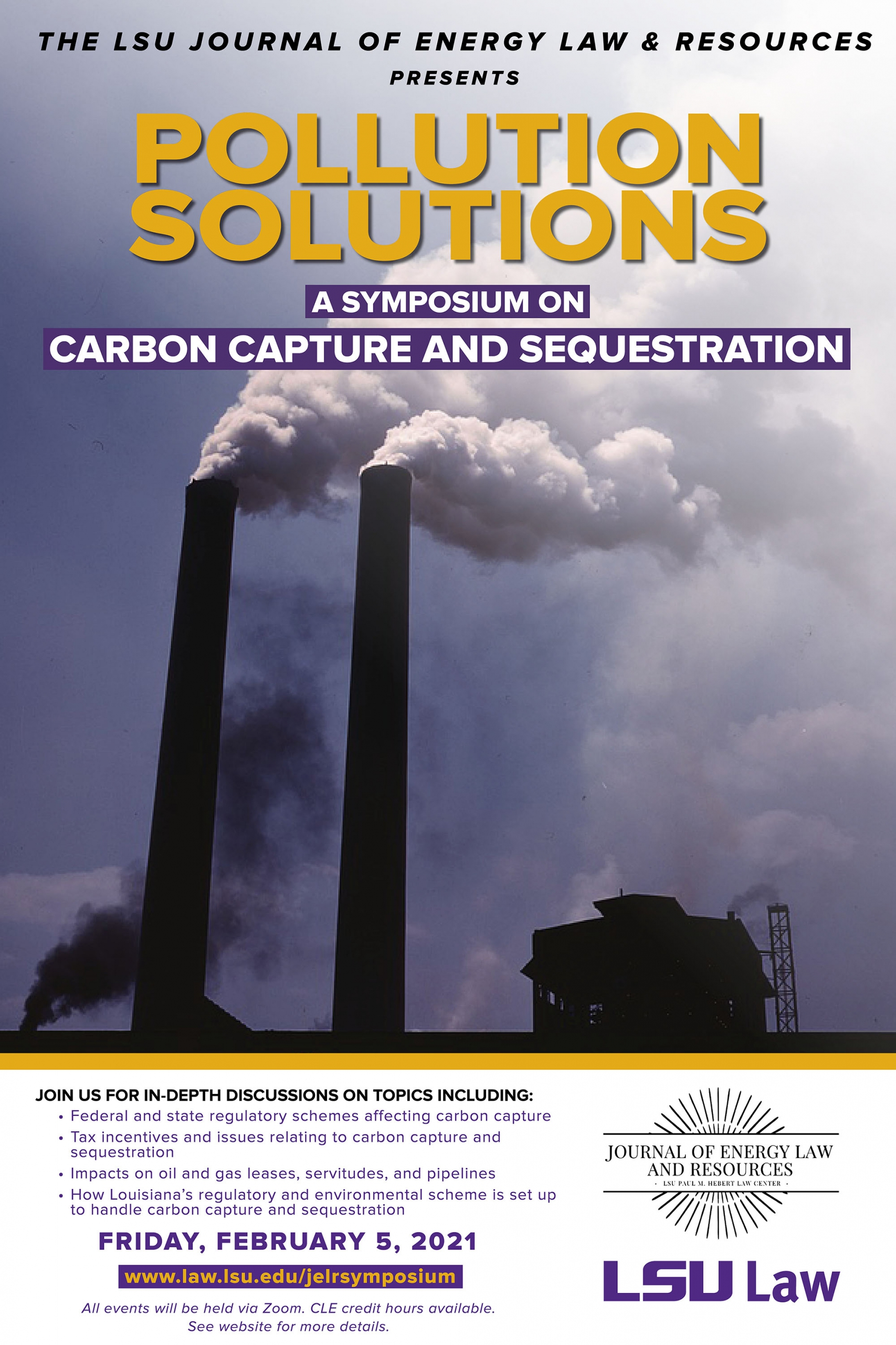 JELR Symposium Pollution Solutions Flyer