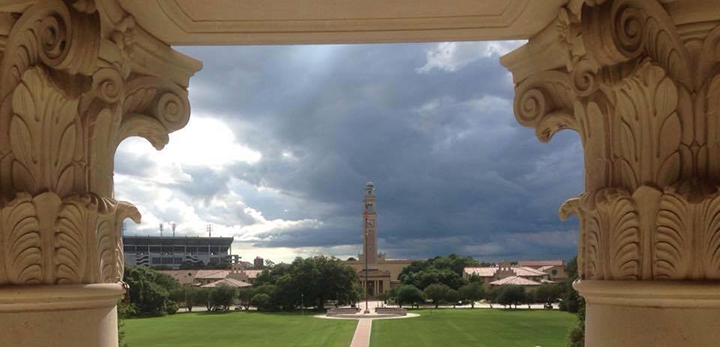 View of the Parade Ground and the Memorial Tower from the CCLS meeting room