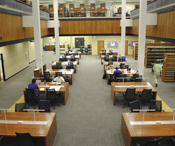 View of the LSU Law library