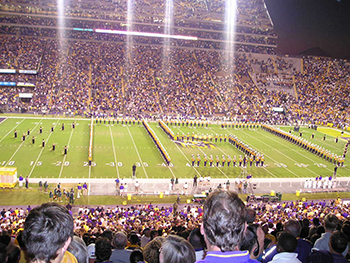 View of an LSU Football Game at the Tiger Stadium