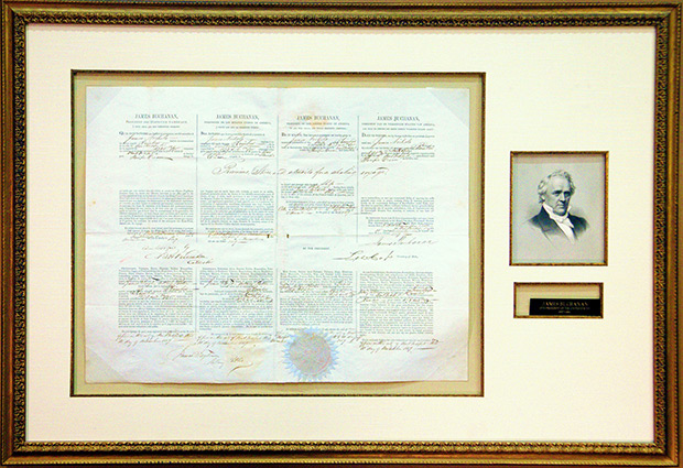 James Buchanan Multi-language Sea Letter Issued November 11, 1859