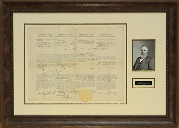 Rutherford B. Hayes Multi-language Sea Letter Issued October 23, 1877