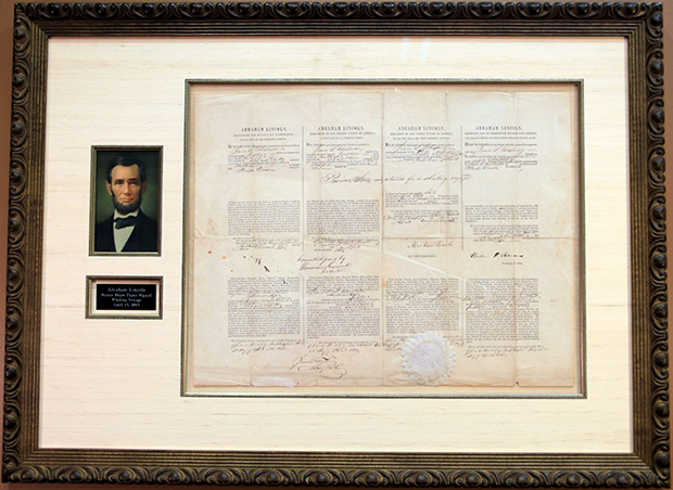 Abraham Lincoln Multi-language Sea Letter Issued April 13, 1863