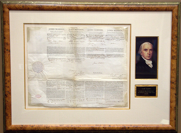 James Madison Multi-language Sea Letter Issued December 31, 1810