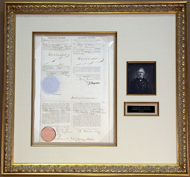 Zachary Taylor Multi-language Sea Letter Issued November 16, 1849