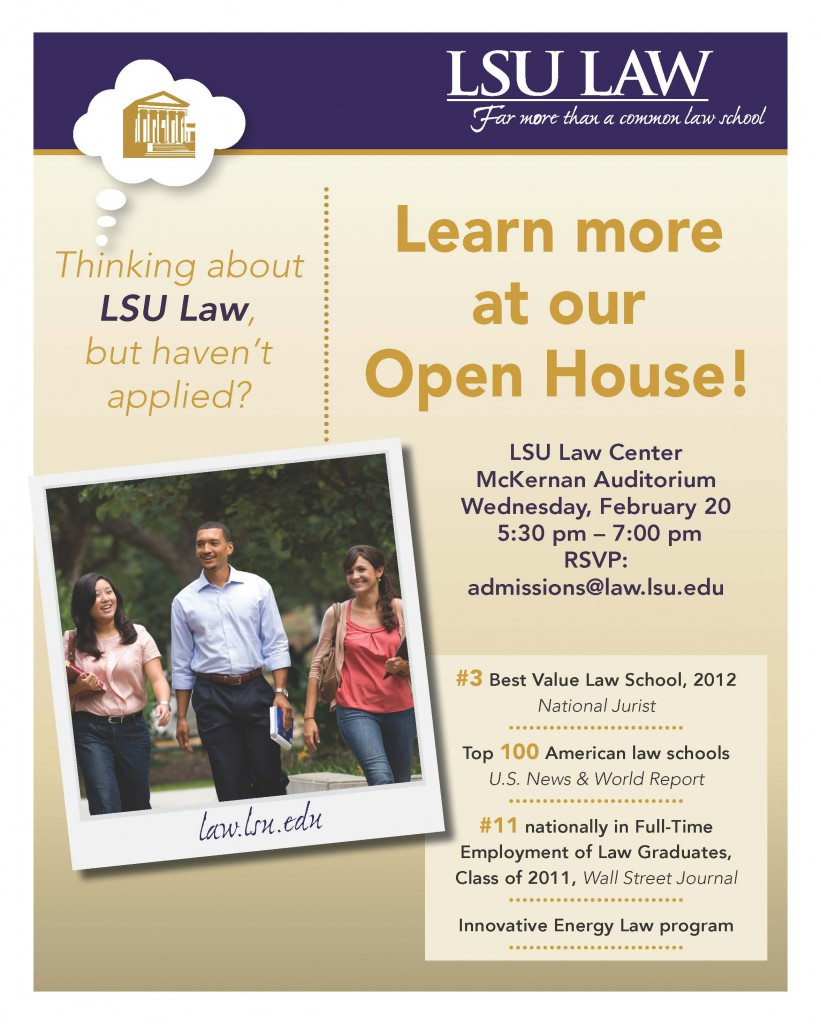 2013 Recruiter open house flyer