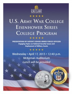 13 A Eisenhower War College flyer