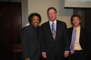 L to R: Professor Donald Tibbs, Drexel University Earle Mack School of Law; Lewis Unglesby ('74) and Professor Ken Levy