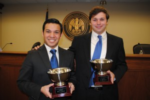 Ben Aguiñaga and C.J. Murray, winners of the 2013 Tullis competition.