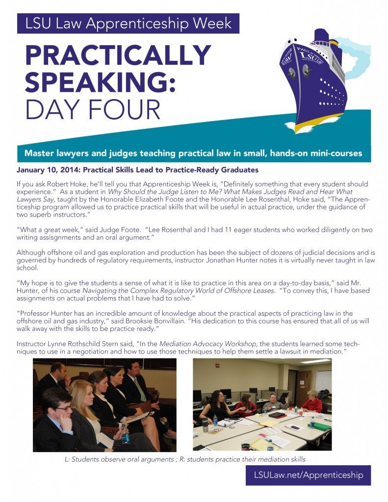 LSU ship newsletter Day Four 2014