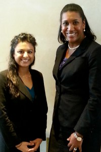 Priya Kumar and Kristi Obafunwa, LSU Law Center's Domenick Gabrielli National Family Law Moot Court Competition Team