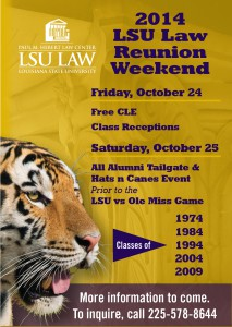 14 Oct reune save date lsu law blast