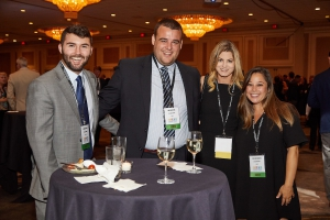 Daniel Bosch (from left), Jay Knighton, Vanessa Anseman and Cecilia Vazquez at the 2019 Houston Marine and Energy Insurance Conference