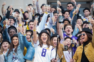 Third-year LSU Law students at the Hats 'n Canes toast on Saturday, Oct. 26.