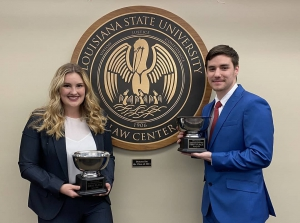 LSU Law students Allison Powell and Nathan Mulvihill