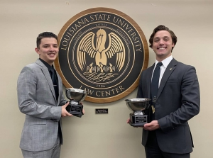 LSU Law students Lindrit Shkodra and Blane Mader