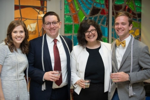 Annie Scardulla, third from left, with 2019 LSU Law Order of the Barrister students Ashley Delaune, J. William VanDehei and Justin DiCharia.