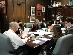 Prosecution Clinic students are officially sworn in as student attorneys at the East Baton Rouge District Attorney's Office for the fall semester.