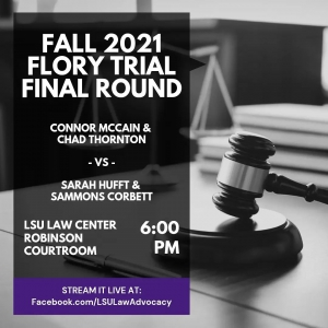 Information regarding the Fall 2020 Flory Trial Final Round