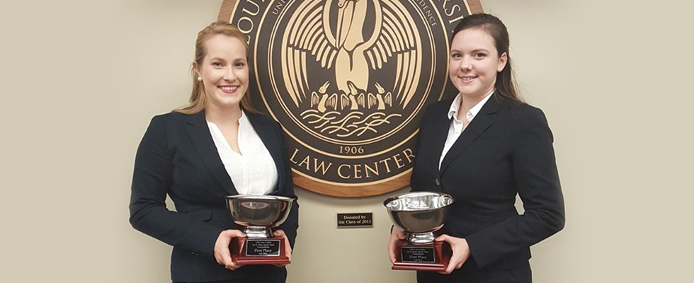 Cline, Gonsoulin Win Fall 2016 Flory Trial Competition