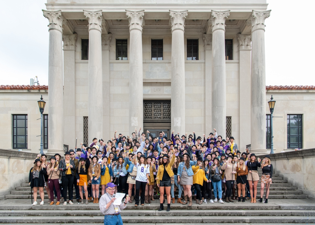 Students on Front Steps 2