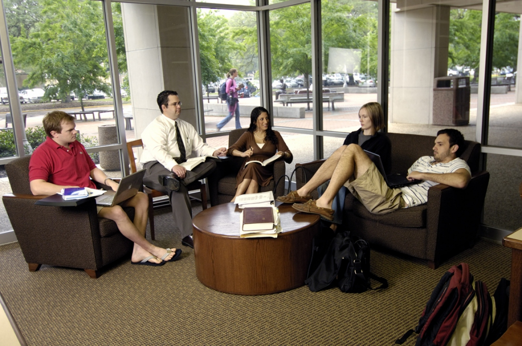 Students in Law Library 2